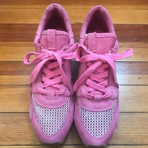 ASH Pink Wedge Sneakers
